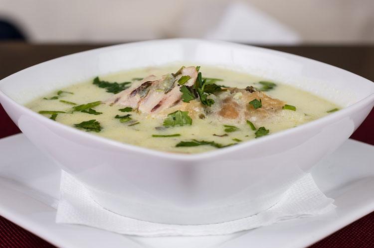 Крем суп с лисичками