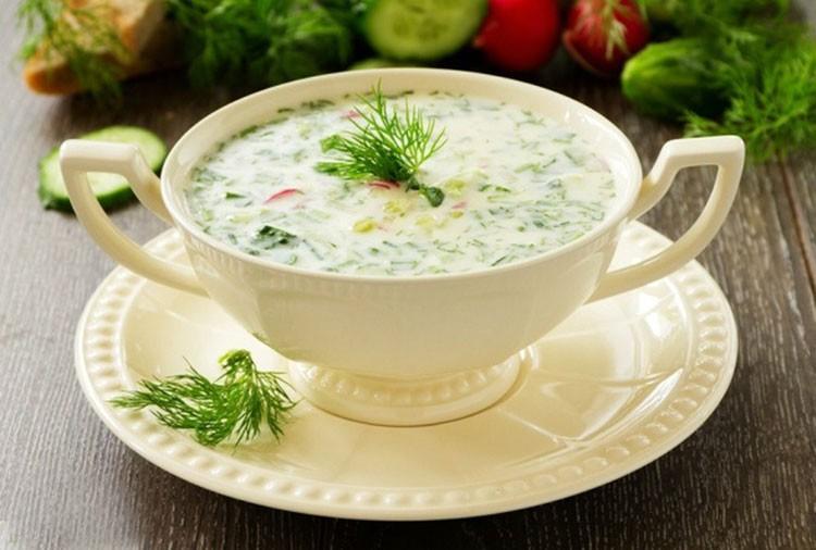 Простой рецепт на лето «Суп с кефиром»