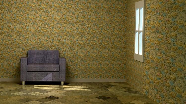 Непосредственное оклеивание стен тканью
